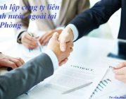 Thành lập công ty liên doanh nước ngoài