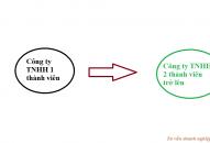 Chuyển đổi công ty TNHH 1 thành viên thành công ty TNHH 2 thành viên